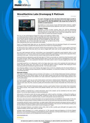 MusicRadar.com WaveMachine Labs Drumagog 5 Platinum