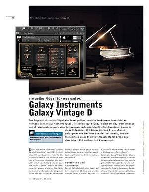 Sound & Recording Galaxy Instruments Galaxy Vintage D