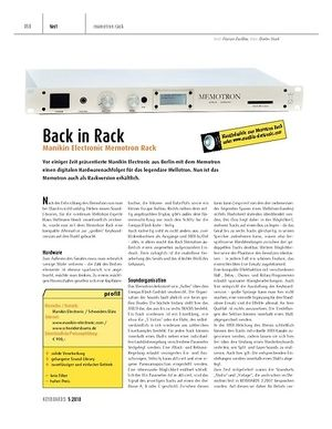 Keyboards Manikin Electronic Memotron Rack