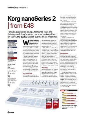 Future Music Korg nanoSeries 2