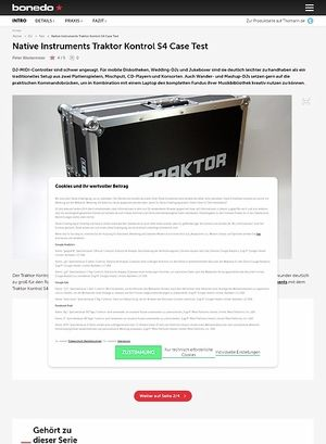 Bonedo.de Native Instruments Traktor Kontrol S4 Case