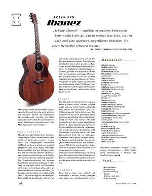 Gitarre & Bass Ibanez AC240-OPN, A-Gitarren