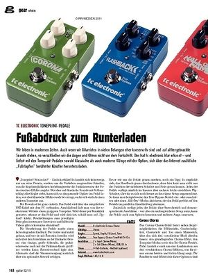 guitar gear Effekte - tc electronic Toneprint-Pedale