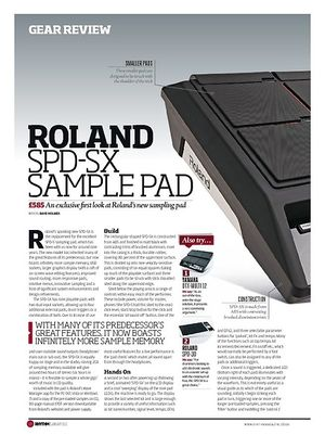 Rhythm ROLAND SPD SX SAMPLE PAD