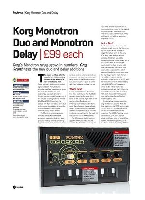 Future Music Korg Monotron Delay