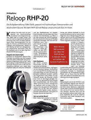 KEYS Reloop RHP-20