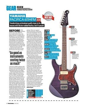 Total Guitar YAMAHA PACIFICA 611HFM