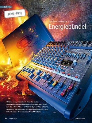 Soundcheck Test Power-Mixer: Dynacord PowerMate 600-3