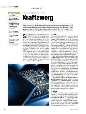 Tastenwelt Test: Dynacord PowerMate 600-3 - Kraftzwerg