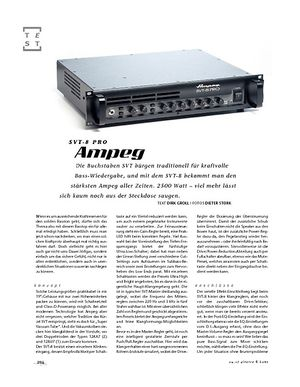 Gitarre & Bass Ampeg SVT-8 Pro, Topteil