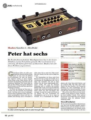 guitar gear Tonabnehmer - Shadow Nanoflex 6 + Hex-Pedal