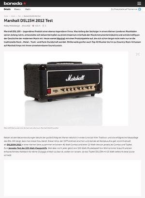 Bonedo.de Marshall DSL15H 2012 Test