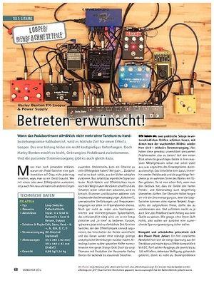 Soundcheck Test Looper/Mehrfachnetzteile: Harley Benton FX-Looper & Power S