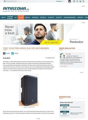 Amazona.de Test: Electro-Voice ZLX-15P, Aktivbox