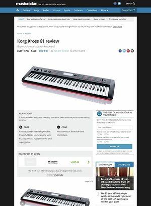 MusicRadar.com Korg Kross 61