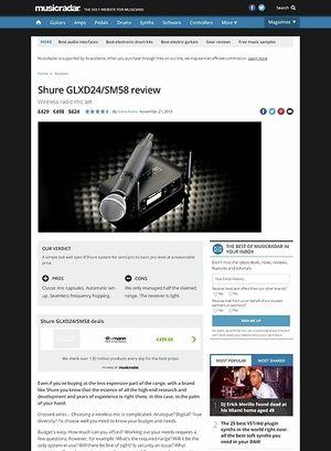 MusicRadar.com Shure GLXD24/SM58