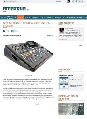 Amazona.de Test: Behringer X32, Digital Mischpult