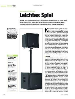 Tastenwelt Mackie DLM12/DLM12S - Leichtes Spiel