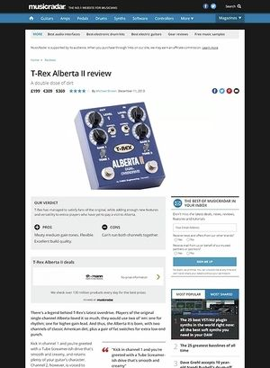 MusicRadar.com T-Rex Alberta II