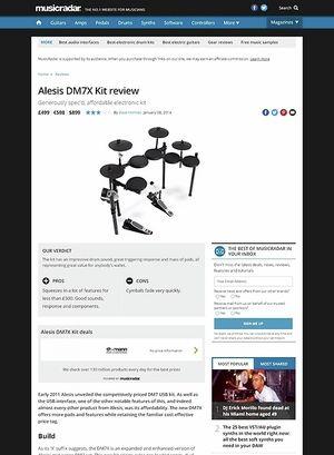 MusicRadar.com Alesis DM7X Kit
