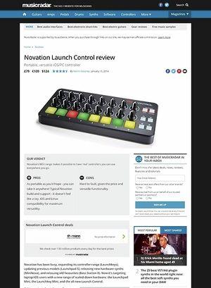 MusicRadar.com Novation Launch Control