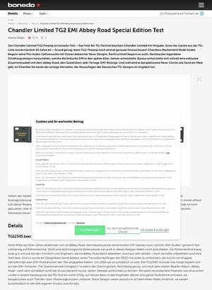 Bonedo.de Chandler Limited TG2 EMI Abbey Road Special Edition