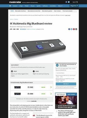 MusicRadar.com IK Multimedia iRig BlueBoard