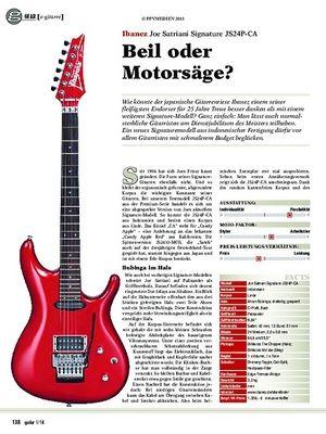 Guitar gear e-gitarre: Ibanez Joe Satriani Signature JS24P-CA