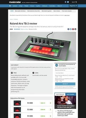 MusicRadar.com Roland Aira TB-3