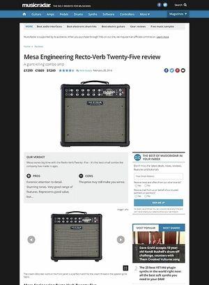 MusicRadar.com Mesa Engineering Recto-Verb Twenty-Five