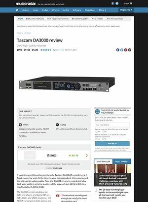 MusicRadar.com Tascam DA3000