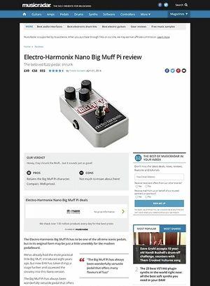 MusicRadar.com Electro-Harmonix Nano Big Muff Pi