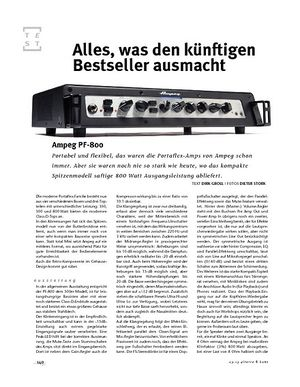 Gitarre & Bass Ampeg PF-800, Bass-Head