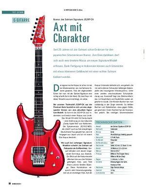 Soundcheck Test Gitarre: Ibanez Joe Satriani Signature JS24P-CA