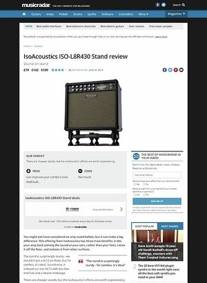 MusicRadar.com IsoAcoustics ISO-L8R430 Stand