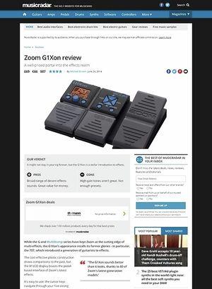 MusicRadar.com Zoom G1XON