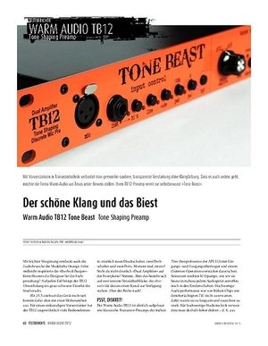 Sound & Recording Warm Audio TB12 Tone Beast - Tone Shaping Preamp