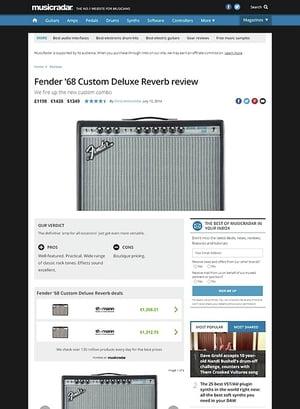 MusicRadar.com Fender '68 Custom Deluxe Reverb