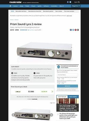 MusicRadar.com Prism Sound Lyra 2