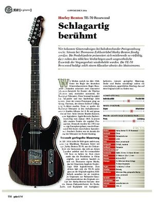 Guitar Harley Benton TE-70 Rosewood