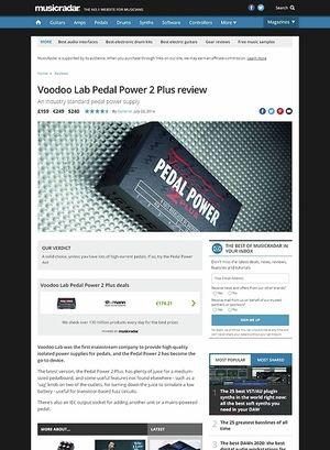 MusicRadar.com Voodoo Lab Pedal Power 2 Plus