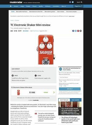 MusicRadar.com TC Electronic Shaker Mini