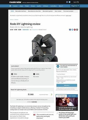 MusicRadar.com Rode iXY Lightning