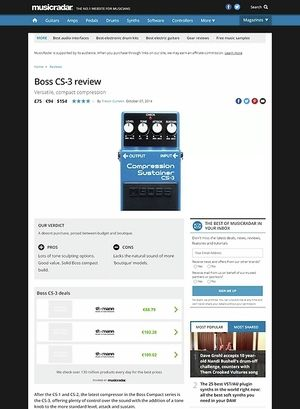 MusicRadar.com Boss CS-3