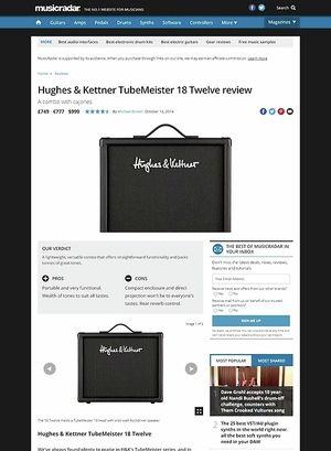 MusicRadar.com Hughes & Kettner TubeMeister 18 Twelve