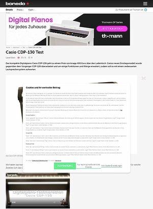 Bonedo.de Casio CDP-130
