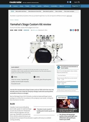 MusicRadar.com Yamaha's Stage Custom Kit