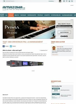 Amazona.de Test: DBX DriveRack PA2, LS-Management