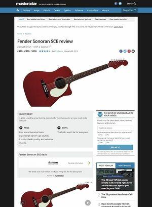 MusicRadar.com Fender Sonoran SCE