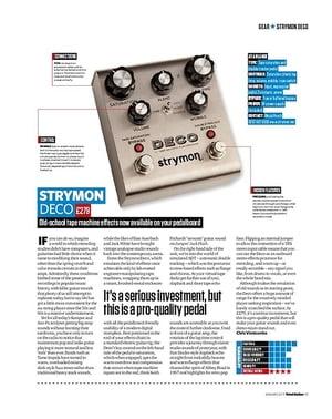 Total Guitar Strymon Deco